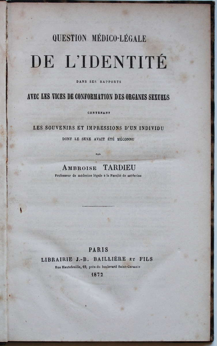 """herculine barbin essay Much as the issue on sexuality remains an unresolved conflict among medical experts, religious and judicial authorities, and hermaphrodites themselves under austere criticism in the 19th century, the search for identity in terms of """"true sex"""" seems far from leaving the mystery which a french rural child of the mid-1900s had originally brought forth."""