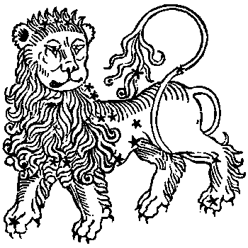 Leo, illustration from a 1482 edition of a book by Hyginus.