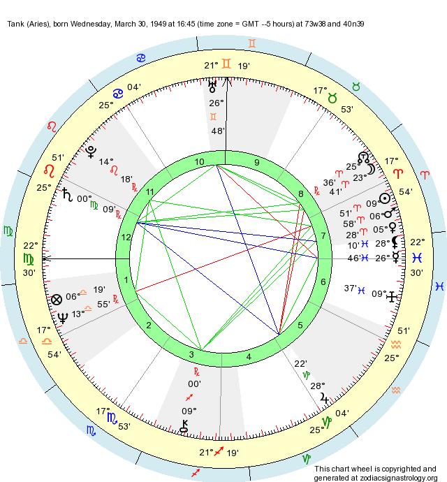 Birth Chart Tank Aries Zodiac Sign Astrology