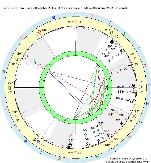 birth chart evarts twins capricorn zodiac sign astrology